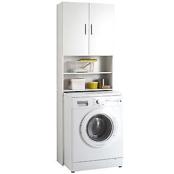 Armadio lavatrice FMD con spazio di archiviazione bianco