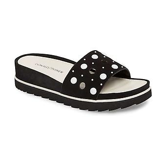 Donald J Pliner Womens Cava Open Toe Casual Slide Sandals