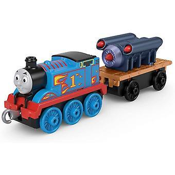 Trackmaster - Thomas & Friends Large Thomas with Rocket Push Along Figure