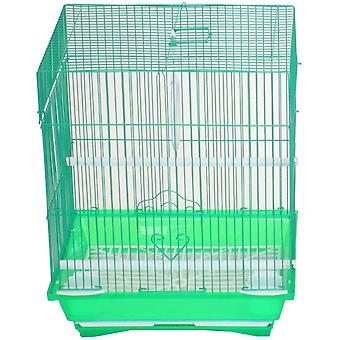 """Yml A1124Mgrn Flat Top Small Parakeet Cage, 11"""" X 8.5"""" X 14"""""""