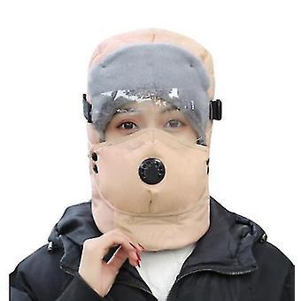 Χειμώνας διαφανή γυαλιά αντι-ομίχλη υπαίθρια σπορ ποδήλατο ζεστό καπέλο έλκηθρο μοτοσικλέτα ζεστό καπέλο (χακί)