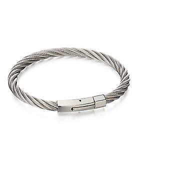 Fred Bennett Män rostfritt stål Strand armband av längd 21.5cm AZ-B5053