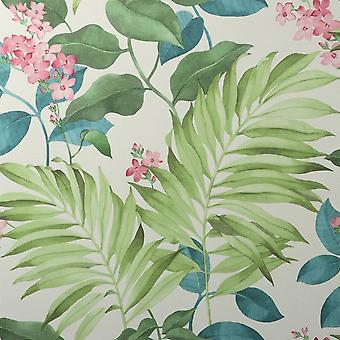 Crown Eden Tropisk Grön Tapet M1650