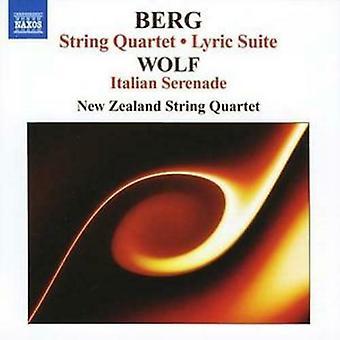 Alban Berg  String Quartetitalia n Serenade (New Zealand String Quartet) CD