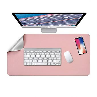 Dubbelzijdige laptop pad, multifunctionele bureau pad voor toetsenbord en muis 80 x 40 cm, waterdichte muismat pu leer voor kantoor en thuis