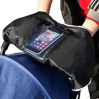Kinderwagen Handwärmer Schwarz Kinderwagen Dicke Handschuhe mit Fleece Wasserdicht Winddicht