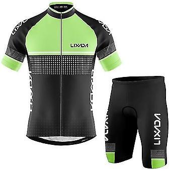 Cyklistické cyklistické dresy pánské cyklistické dresy set prodyšné rychleschnoucí cyklistické tričko s krátkým rukávem a pěnové polstrované šortky mtb cyklistická sada