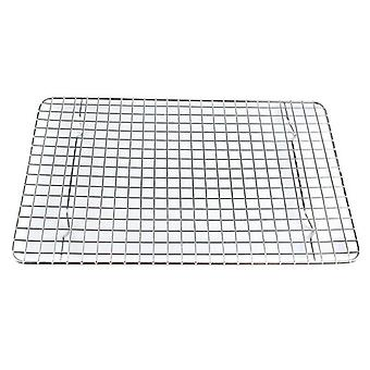 tainless Steel Baking Cooling Wire Rack Pizza Caka Cookie Grid Sheet Oven Pan