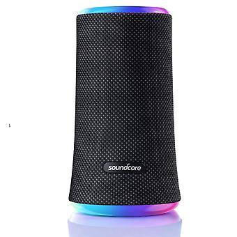 Anker Soundcore Flare 2 Haut-parleur Bluetooth, avec protection de l'eau IPX7, son 360 ° tout rond, pour l'extérieur, dans le jardin, sur la plage, en vacances, avec PartyCast, règlement EQ et 12 heures d'autonomie (Noir)