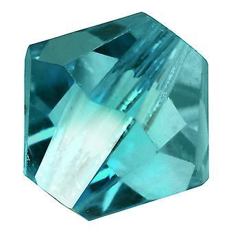 Preciosa tjekkisk krystal, Bicone Perle 4mm, 36 stykker, Blå Zircon