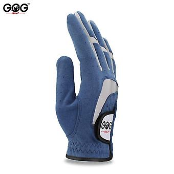 New 1pcs golf gloves fabric blue glove left right hand for golfer breathable sports ads glove driver gloves brand new