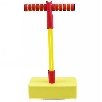 Schaumstoff Pogo Pullover für Kinder Spaß und sichere Springstock Pogo Stick (gelb)
