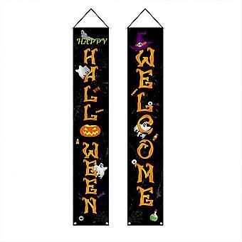 Couplets de bannières d'Halloween, décorations nécessaires d'Halloween pour la fête d'Halloween Hall d'entrée Fenêtres Jardin