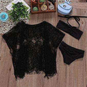 Baby Swimwear Swimsuit Bathing Suit Halter Bikini Lace Cover