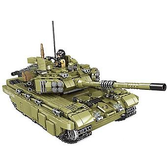 Military War Jungle Commando Tiger Tank Heavy Truck Army Vehicle Building Blocks Brick Toys
