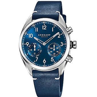 Kronaby S3764-2 Men's Leather Strap Hybrid Smartwatch
