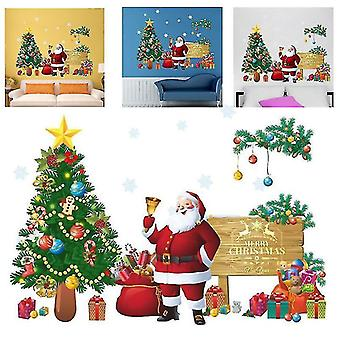 Home decor decals merry christmas wall stickers santa claus christmas gift window wall decals xmas decor