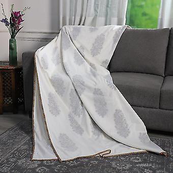 Motivos reversibles de algodón de árboles delgados estampados Muslin Dohar Summer Blanket