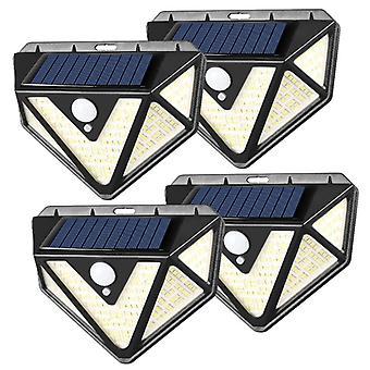 Outdoor Solar Light, 2020 Verbesserte Version des Bewegungssensors Solarlicht mit Alarmfunktion, 3 Beleuchtungsmodi, 270 Weitwinkel, Ip65 wasserdicht Solar