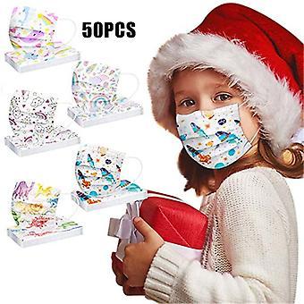 Lasten kasvonaamiainen 3 kerrosta Söpö Paina hengittävä suojanaamiainen kouluretkeilyyn