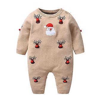 Baby Pulover de Crăciun Romper tricotate reni Salopeta Costume
