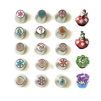 Natal Russo Tubulação de gelo Cakecupcake Dicas de decoração set de festas