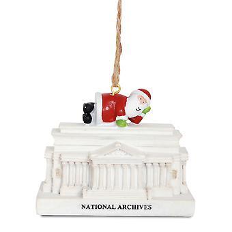 Santa National Archives Building Washington DC kerst Vakantiewoningen Ornament