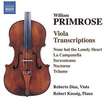 W. Primrose - William Primrose: Importazione USA Viola trascrizioni [CD]