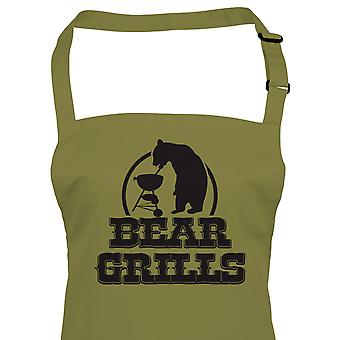 Bear Grills Funny BBQ Apron - Birthday Fathers Day Gift For Him Dad Grandad