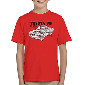 Haynes Workshop Manual Toyota Hi Lux Black Kid's T-Shirt