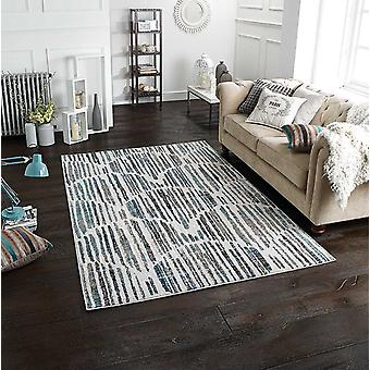 Chloe 702 X blå grå rektangel mattor moderna mattor