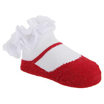 Baby Girls Glitter Frilly Socks (One Pair)