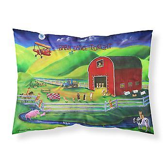Carolines Treasures  7404PILLOWCASE Corgi Barn Dance Fabric Standard Pillowcase