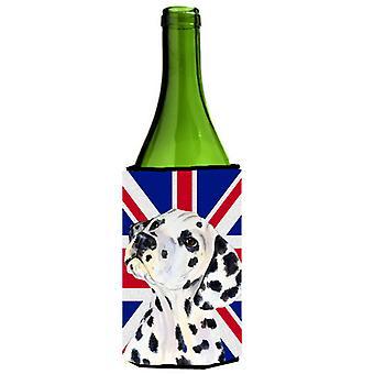 Dálmata con inglés Union Jack británico bandera botella de vino bebidas aislador Hu