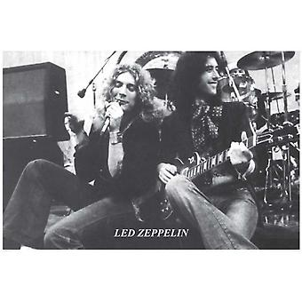 Led Zeppelin Stage Page & Plant Poster Poster Print