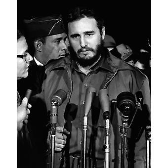 Fidel Castro Washington DC 1959 Poster trykk av McMahan bilde arkiv (8 x 10)