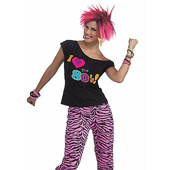 I Love anii ' 80 Remix 1980 disco retro partid femei costum tricou top