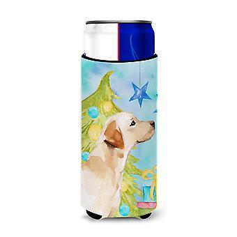 Yellow Labrador #2 Christmas Michelob Ultra Hugger for slim cans