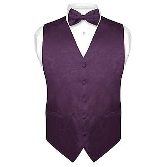Men's Paisley SLIM FIT Dress Vest Bow Tie BOWTie Handkerchief Set