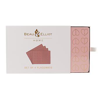 Beau & Elliot Blush sett med 4 Placemats