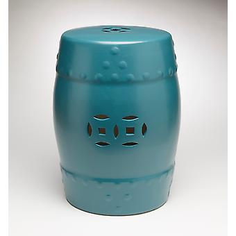 AA Importing 59918-BL Ceramic Garden Stool