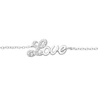 """love"" - 925 Gümüş Zincir Bilezik - W37554x"