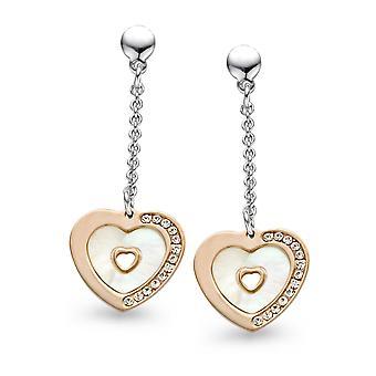 Orphelia Silver 925 Earring Rose Mop Heart  ZO-5150
