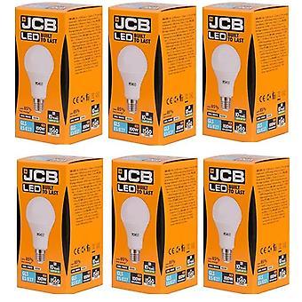 6 X JCB führte 15 Watt Schraubverschluss GLS Cool weiß 4000K 100W Ersatz ES E27 LED Lampe [Energieeffizienzklasse A +]