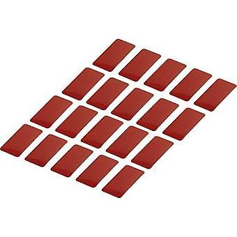 Conrad komponenter RTS25/50-RD 1282802 selvklebende strimler RTS rød (L x W) 50 mm x 25 mm 20 PC (er)
