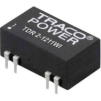 TracoPower TDR 2-2411WI DC/DC ממיר (הדפסה) 24 V DC 5 V DC 400 mA 2 W לא. של תפוקות: 1 x