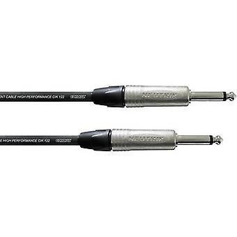 Cabo cordial de instrumentos pro line [1x tomada de tomada 6,35 mm - 1x tomada plug 6,35 mm] 6,00 m Preto