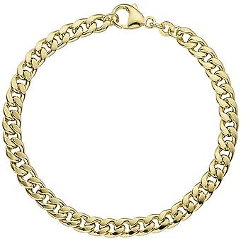 Mosquetão de 19 cm concha ouro pulseira 333 ouro pulseira de ouro amarelo ouro