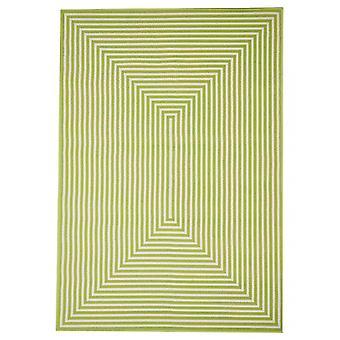 Utendørs løperen for terrasse / balkong green Vitaminic flette Green 160 / 230 cm teppe innendørs / utendørs - for innendørs og utendørs