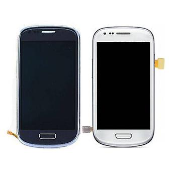 Stuff gecertificeerd® Samsung Galaxy S3 mini display (AMOLED + Touch Screen + Parts) A + kwaliteit-blauw/wit